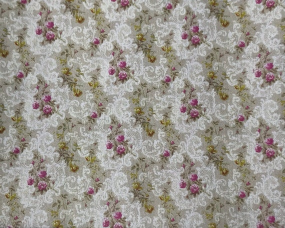 Dollhouse Miniature Matching Fabric, Flourish, Scale One Inch