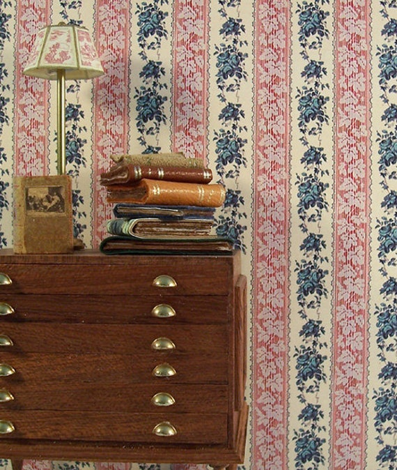 Dollhouse Miniature Wallpaper, Legacy, 1:12 scale