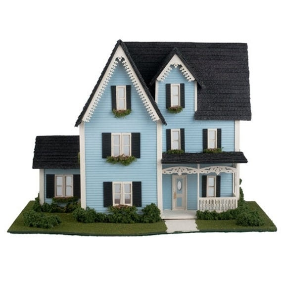 1:48 Victorian Wooden Dollhouse KIT, It's A Wonderful Life, Quarter scale