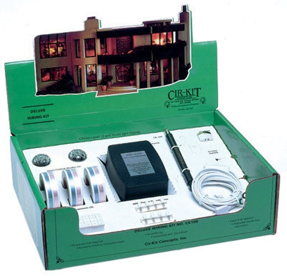 Deluxe Dollhouse Electric Wiring Kit for X Large Dollhouses