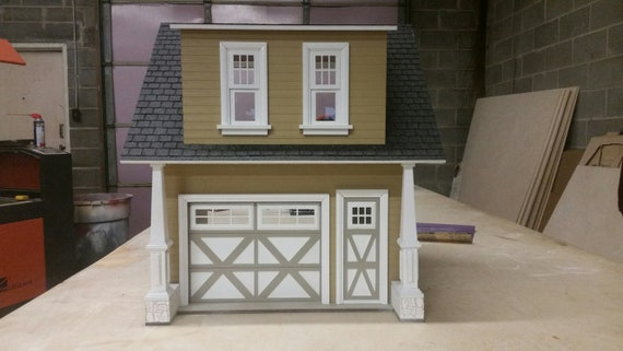 Dollhouse Miniature Wooden Kit, Artisan One Car Garage, Scale One Inch