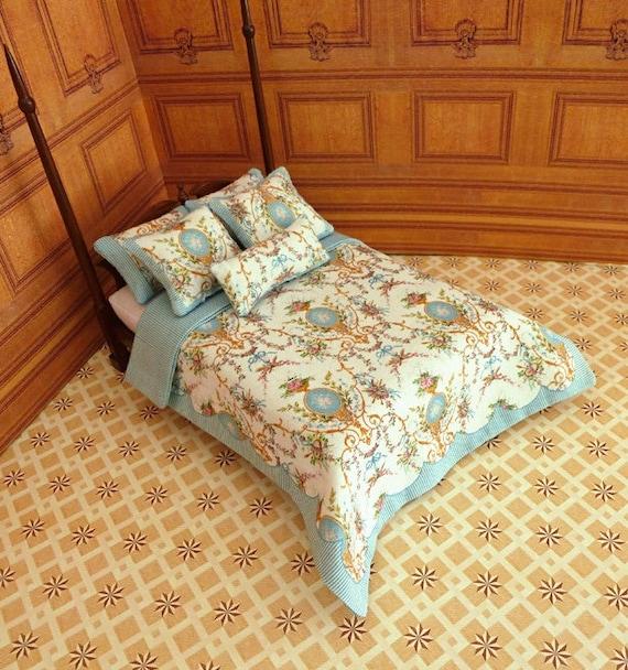 1:12 Dollhouse Miniature Double Bedding KIT, Isabella