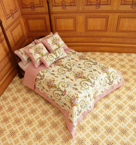Dollhouse Miniature Double Bedding KIT, Versailles, 1:12 scale