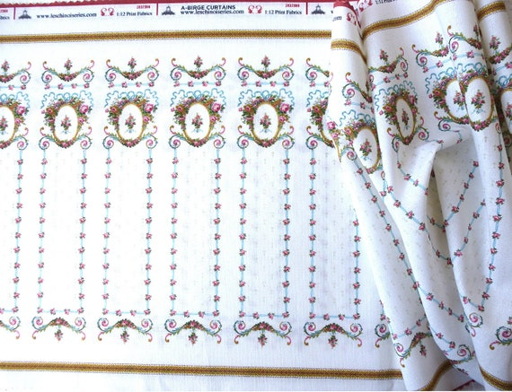 Dollhouse Miniature Matching Fabric, Belle, Scale One Inch