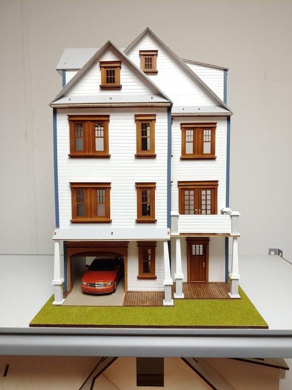1:24 Dollhouse Miniature Wooden Dollhouse KIT, American Craftsman, Half Scale