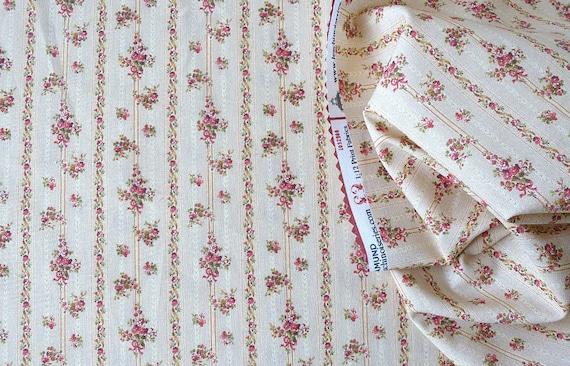 Dollhouse Miniature Matching Fabric, Poco Rojo, Scale One Inch