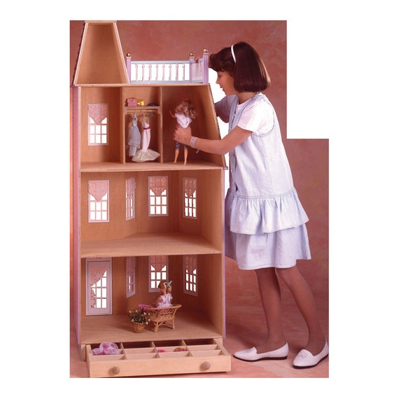 Vicky, Playscale Victorian Townhouse Wooden Dollhouse Kit