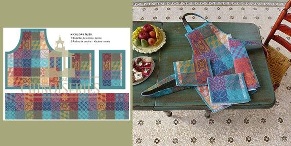 Dollhouse Miniature Joyeux Apron with Dish Towels DIY Kit, 1:12 scale