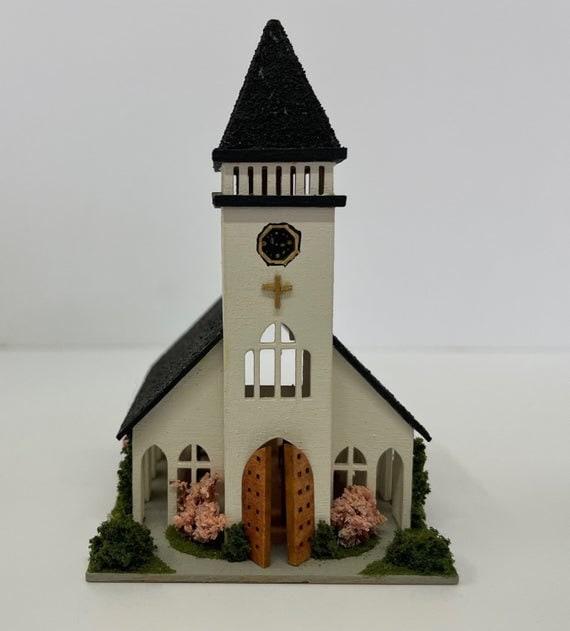 1:144 Micro Mini Wooden Dollhouse KIT, Sanctuary, 1/144 scale