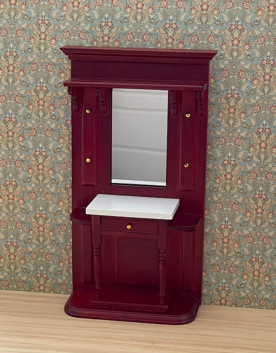 Dollhouse Miniature Furniture, Hallway Stand, 1:12 scale