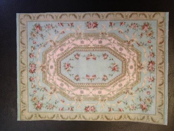 Dollhouse Miniature Romantic Savonnerie Rose Carpet