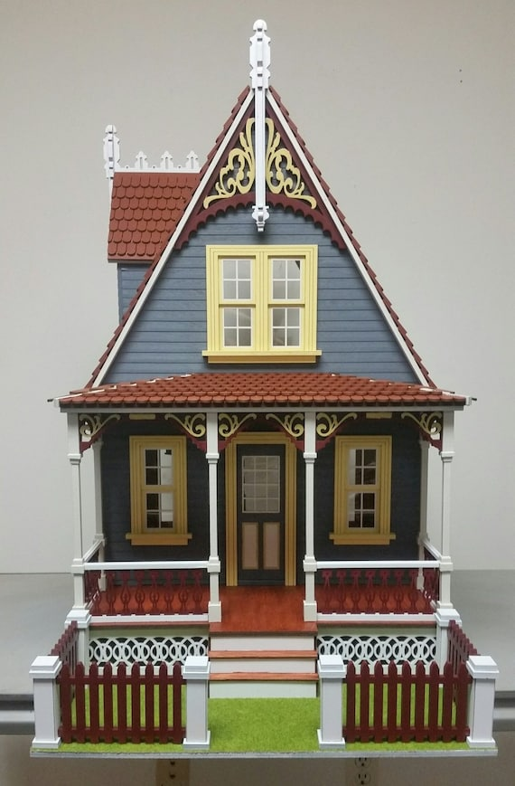 Dollhouse Miniature Cottage Dollhouse Kit, Anna, Scale One Inch