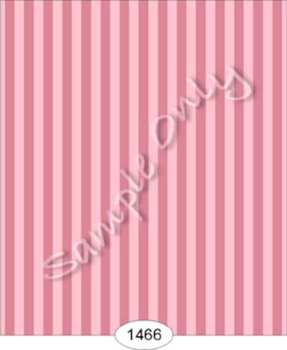 "Dollhouse Miniature Wallpaper, ""Coco"", A Parisian Pink Stripe, Scale One Inch"