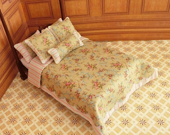 Dollhouse Miniature Double Bedding KIT, May, 1:12 scale