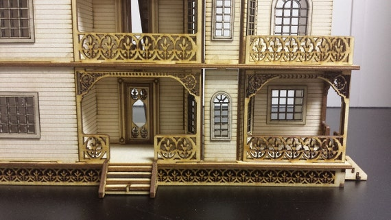 Quarter Inch Scale Wooden Dollhouse Kit, Grace Mansion, Gorgeous Victorian Wooden Dollhouse Kit, 1:48 Scale, SHIPS WORLDWIDE