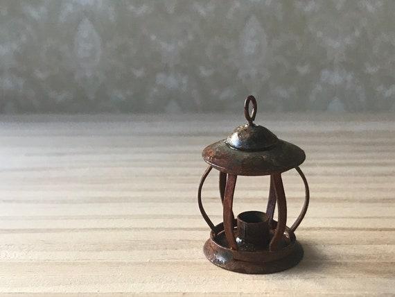 Dollhouse Miniature Rustic Lantern, 1:12 scale