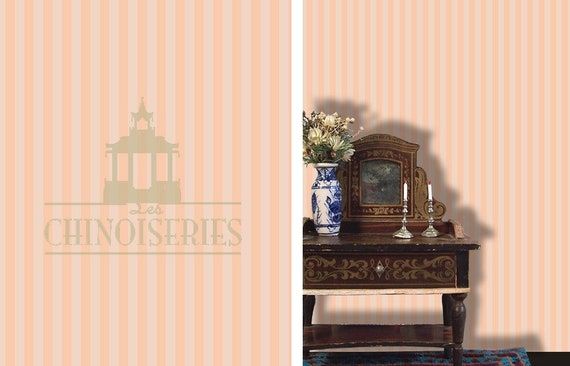 1:12 Dollhouse Miniature Wallpaper, Trending Peaches and Cream, Scale One Inch