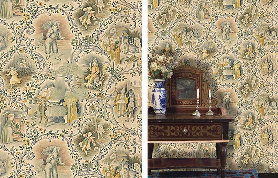 Dollhouse Miniature Wallpaper, Brothers Grimm, Scale One Inch
