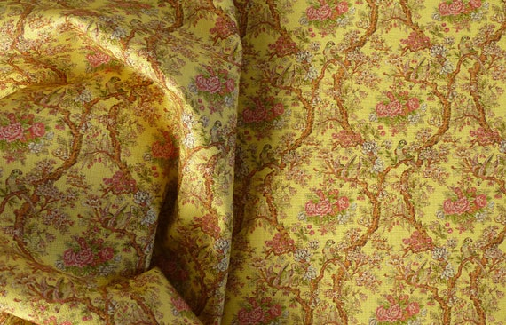 Dollhouse Miniature Matching Fabric, Printemps, 1:12 Scale