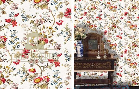 Dollhouse Miniature Wallpaper, Salon, Scale One Inch
