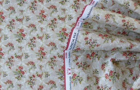 1:12 Dollhouse Miniature Matching FABRIC, Lisette, Scale One Inch