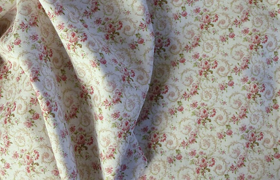 Dollhouse Miniature Matching Fabric, Jolie, Scale One Inch