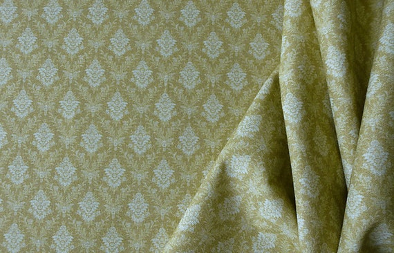 1:12 Dollhouse Miniature Matching Fabric, L'Or, Scale One Inch