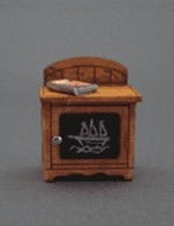 Dollhouse Miniature Furniture Kit, Miss Lydia Pickett's Cottage Collection Robbie's Night Table, 1:48 scale
