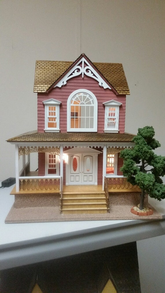 1:24 Wooden Dollhouse Kit, Charming Cottage, Half Inch Scale