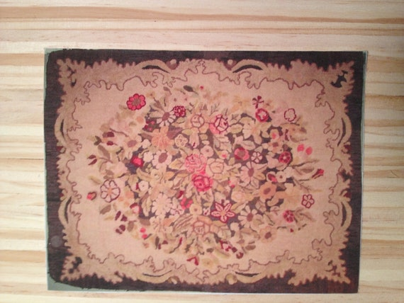 "Dollhouse Miniature Room Size Rug, ""French Aubusson of The Russian Court"", Scale One Inch"