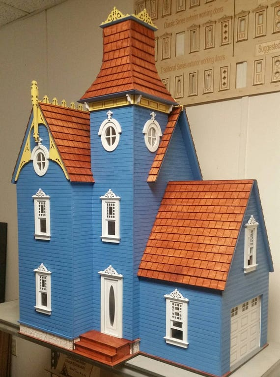 Wooden Dollhouse Kit Delilah A Victorian Dollhouse Kit Etsy