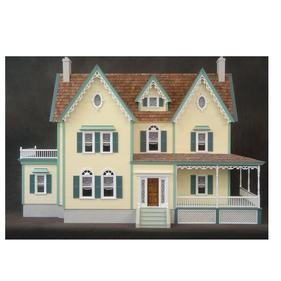 It's A Wonderful Life, Dollhouse Miniature Wooden Dollhouse Kit, Scale One Inch