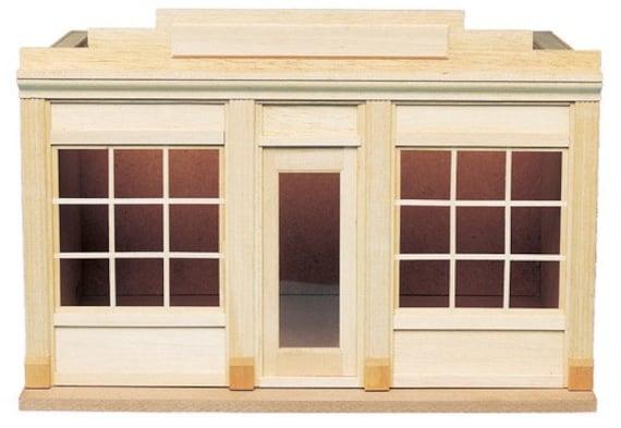 12th scale Wooden Dollhouse Miniature Kit, Window Shopper