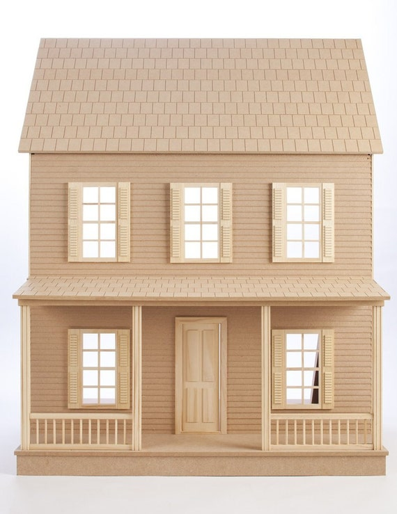 Beginners Dream! Wooden Dollhouse Kit, EZ Quick Fun, Scale One Inch