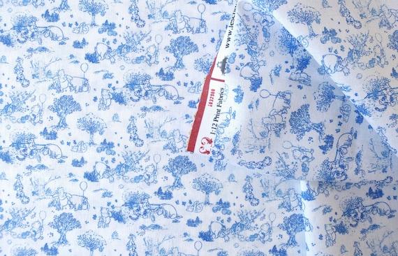 Dollhouse Miniature Fabric, Winnie, Scale One Inch
