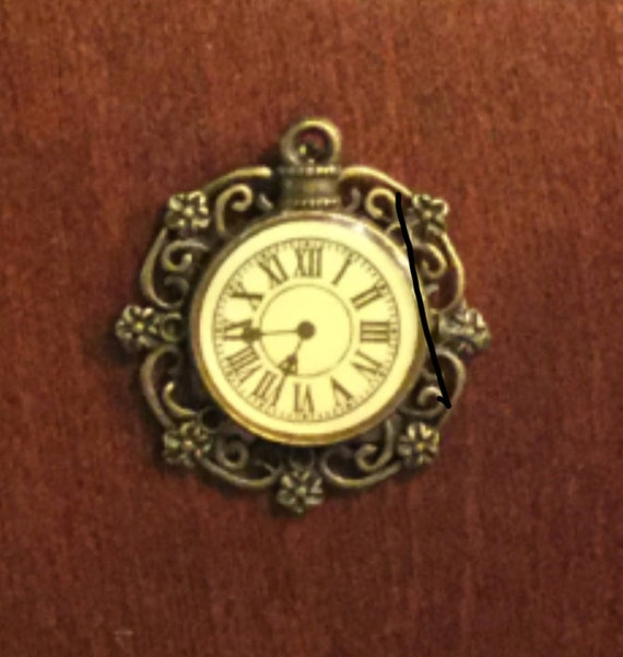 "Dolls House Miniature Filigree Wall Clock, ""Timeless Classic"", Scale One Inch"
