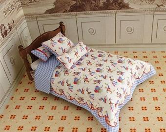Dollhouse Miniature Single Bedding KIT, Cirque, 1:12 scale