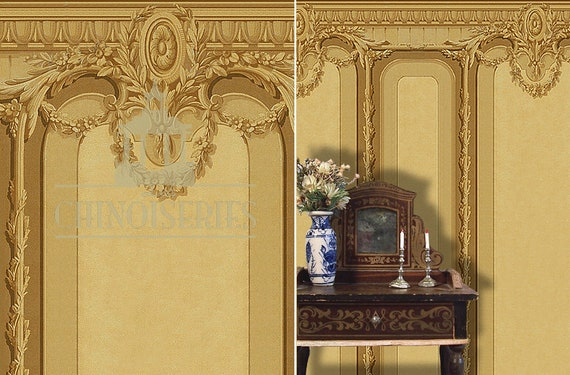 Dollhouse Miniature Wallpaper, Bonaparte, Scale One Inch