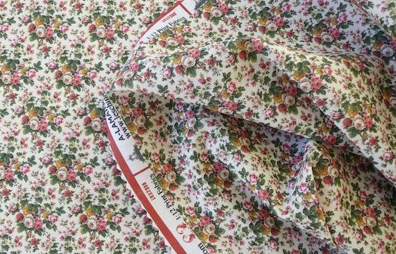1:12 Dollhouse Miniature Fabric, Rosemarie, Scale One Inch
