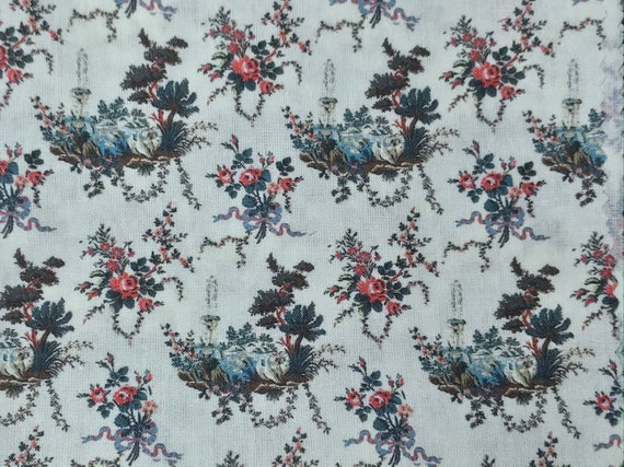 Dollhouse Miniature Fabric, Fountainhead, Scale One Inch