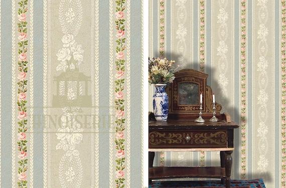 Dollhouse Miniature Wallpaper, Sense and Sensibility, Scale One Inch