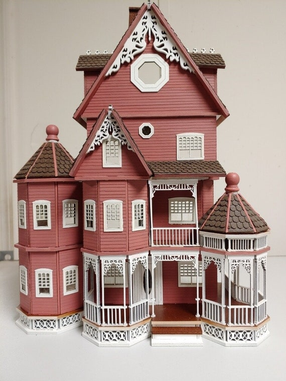 1:48 Abigail, A Victorian Wooden Dollhouse KIT, Quarter Scale