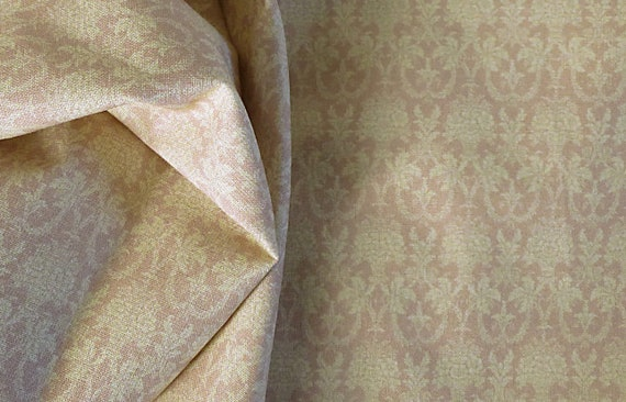 Dollhouse Miniature Matching Fabric, Rose Wedgwood, Scale One Inch