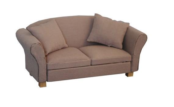 Dollhouse Miniature Furniture, Modern Classic Sofa, Old Faithful, 1:12 Scale