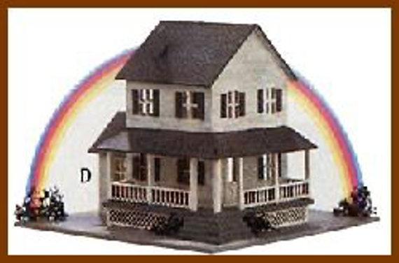 Micro Mini Wooden Dollhouse Kit, Dorothy, 1/144 Scale