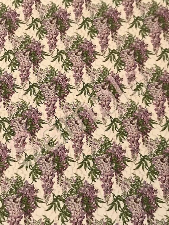 Dollhouse Miniature Wallpaper, Royal Purple, 1:12 scale