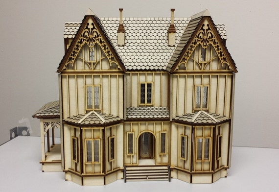 Quarter Inch Scale, Margaret, Dollhouse Miniature Tudor Dollhouse Kit, 1:48 Scale, SHIPS WORLDWIDE