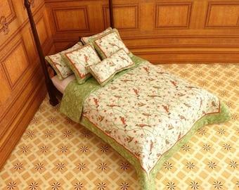 1:12 Dollhouse Miniature Double Bedding KIT, Birds