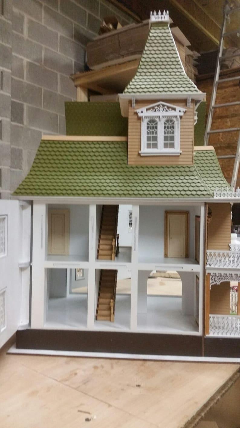 Wooden Dollhouse Kit The Blair Estate Half Inch Scale 1:24 Victorian Wooden Dollhouse Kit SHIPS WORLDWIDE