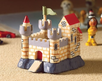 Dollhouse Miniature Toy Castle, Playroom Toy, 1:12 scale